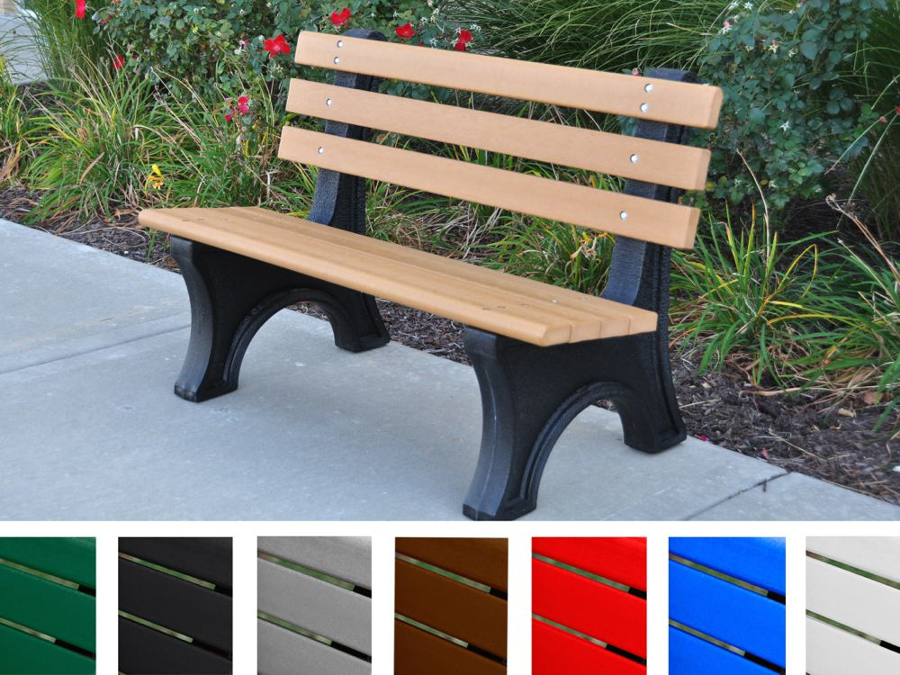 Comfort Park Avenue Bench by Jayhawk Plastics - Outdoor Benches for Parks - AAA State of Play