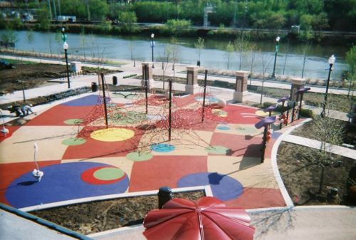Installation of Poured In Place in Chicagoland Park