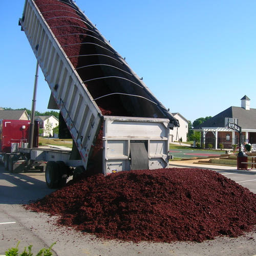 Red Mulch Delivery in Bulk